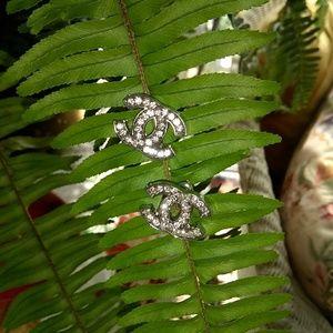 Jewelry - Rhinestone Silver Stud Fashion Earrings